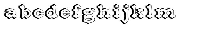 Belgian Open Font LOWERCASE