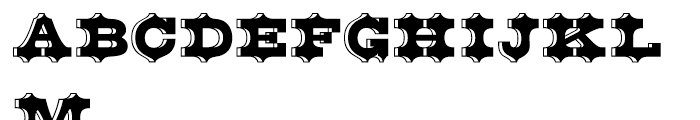 Belgian Regular Font UPPERCASE