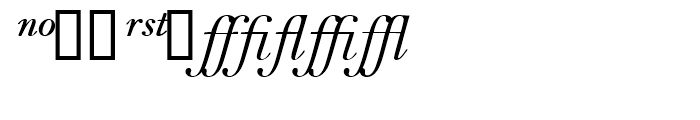Bell Italic Expert Package Font UPPERCASE