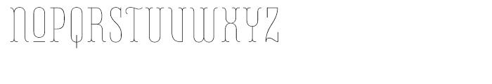 Belleville FY 07H Thin Font UPPERCASE