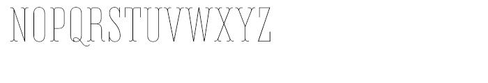 Belleville FY 13H Thin Font UPPERCASE
