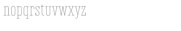 Belleville FY 13H Thin Font LOWERCASE