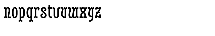 Belleville FY 23H Bold Font LOWERCASE
