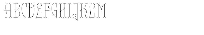 Belleville FY 23H Thin Font UPPERCASE