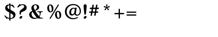Bellini Medium Font OTHER CHARS