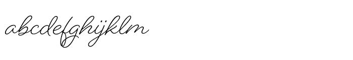 Beloved Script Font LOWERCASE