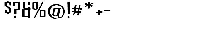 BenderHead Regular Font OTHER CHARS