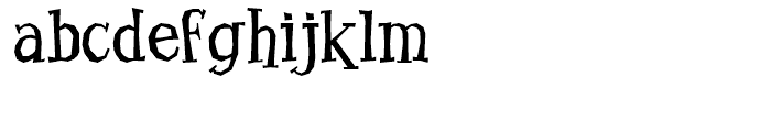 Benderville Regular Font LOWERCASE
