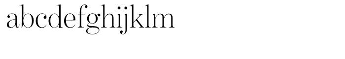 Benton Modern Display Light Font LOWERCASE