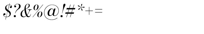 Benton Modern Display Regular Italic Font OTHER CHARS