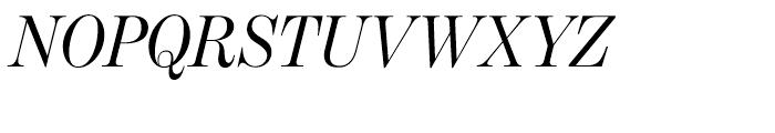 Benton Modern Display Regular Italic Font UPPERCASE