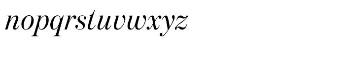 Benton Modern Display Regular Italic Font LOWERCASE