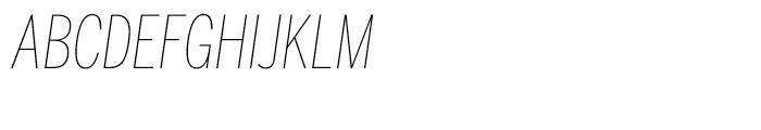 Benton Sans Compressed Thin Italic SC Font UPPERCASE