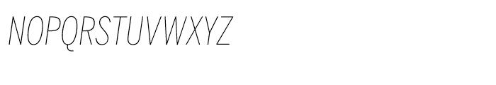 Benton Sans Compressed Thin Italic SC Font LOWERCASE