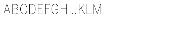 Benton Sans Condensed Thin SC Font LOWERCASE