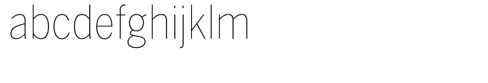 Benton Sans Condensed Thin Font LOWERCASE