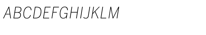 Benton Sans CondensedExtra Light Italic SC Font
