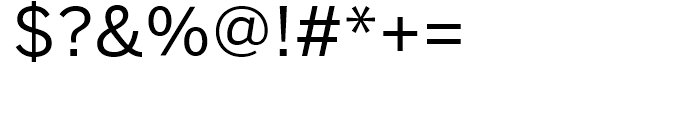 Benton Sans Regular Font OTHER CHARS