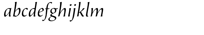 Beorcana Display Italic Font LOWERCASE