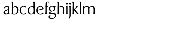 Berglin Light Font LOWERCASE