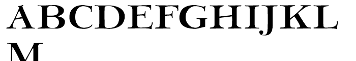 Bergsland Engravers Regular Font UPPERCASE