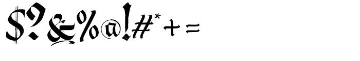 Berliner Fraktur Regular Font OTHER CHARS