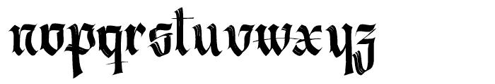 Berliner Fraktur Regular Font LOWERCASE