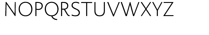 Berling Nova Sans Light Font UPPERCASE