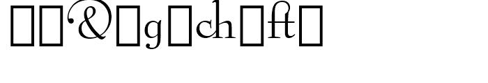 Bernhard Modern Alternate Font OTHER CHARS