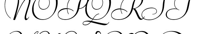 Bernhard Modern Italic Swash Font UPPERCASE