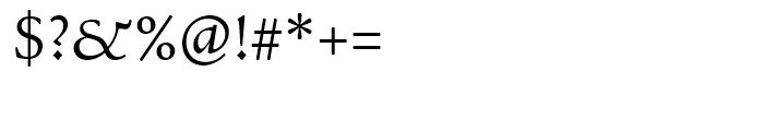 Bertham Regular Font OTHER CHARS