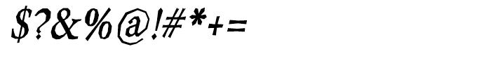 Berylium Bold Italic Font OTHER CHARS