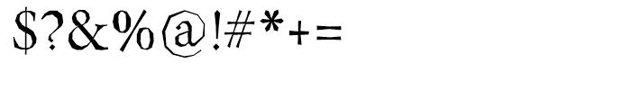 Berylium Regular Font OTHER CHARS