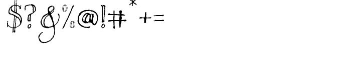 Bessington Regular Font OTHER CHARS