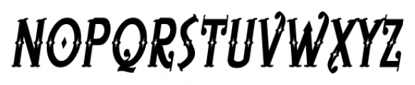 BeardedLady BB Italic Font UPPERCASE