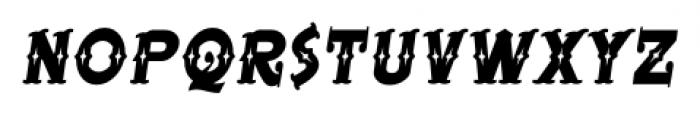 BeardedLady BB Italic Font LOWERCASE