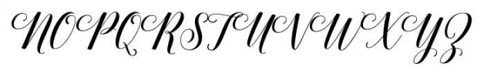 Belastoria Script Regular Font UPPERCASE