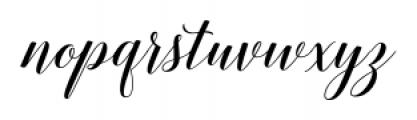 Belastoria Script Regular Font LOWERCASE