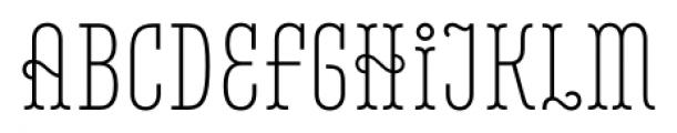 Belleville 07H FY Light Font UPPERCASE