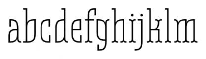 Belleville 19H FY Light Font LOWERCASE