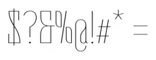 Belleville 19H FY Thin Font OTHER CHARS