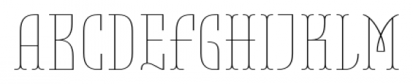 Belleville 19H FY Thin Font UPPERCASE
