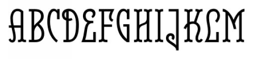 Belleville 23H FY Regular Font UPPERCASE