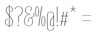 Belleville 23H FY Thin Font OTHER CHARS