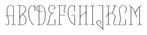 Belleville 23H FY Thin Font UPPERCASE