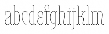 Belleville 23H FY Thin Font LOWERCASE