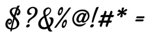 Bellico Regular Font OTHER CHARS