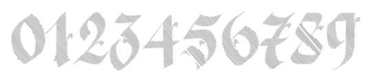 Berliner Fraktur Shadow Font OTHER CHARS