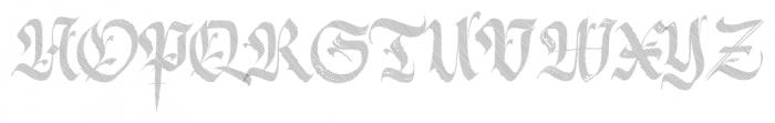 Berliner Fraktur Shadow Font UPPERCASE