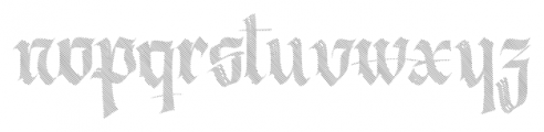 Berliner Fraktur Shadow Font LOWERCASE